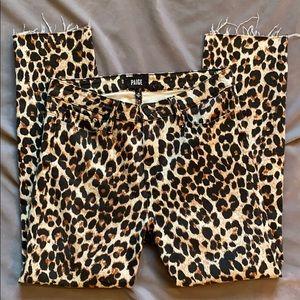 Paige Hoxton Straight Ankle Leopard Jean